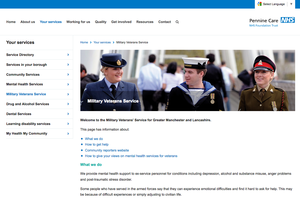 Military Veterans' Service for Greater Manchester and Lancashire